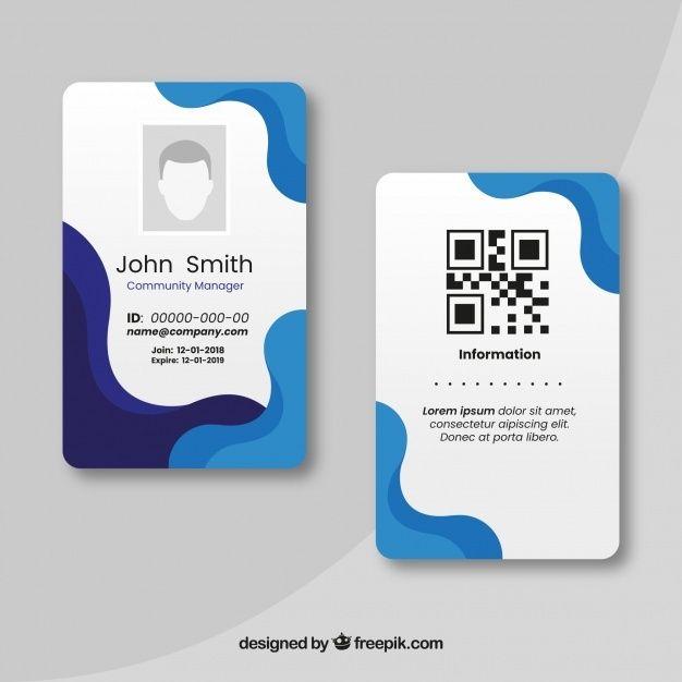 Free Id Card Template Svg Dxf Eps Png Plantillas De Tarjetas