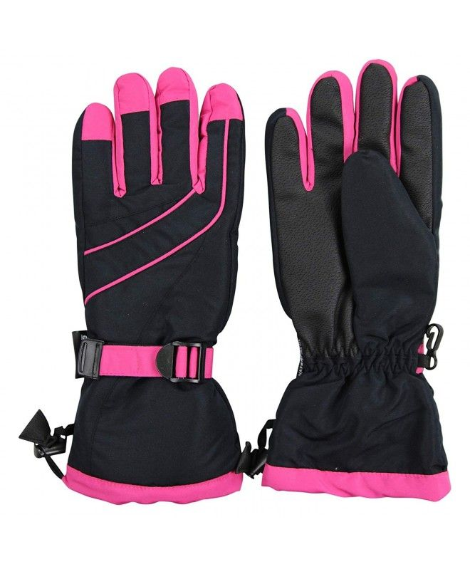 Women S Insulated Waterproof Winter Snow Ski Glove Black Hot Pink Cx1880gmm7w Women S Accessories Gloves Mittens Black Hot Pink Ski Gloves Snow Skiing