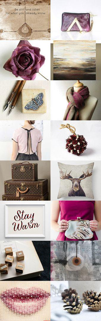 Understated Elegance by Tatjanajewellery on Etsy--Pinned with TreasuryPin.com #plantedfeet #quote #plum #christmas