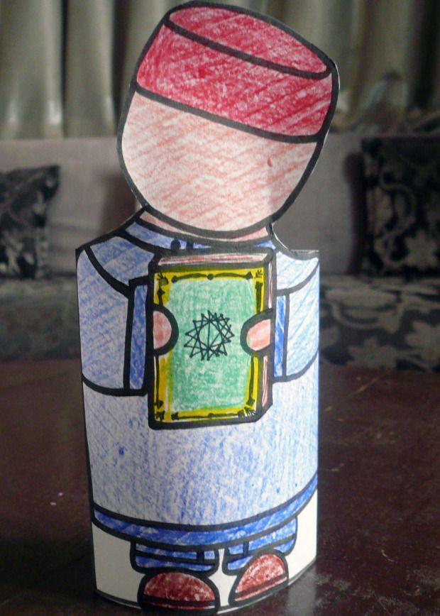 paper doll muslim et son coran:imprimer,colorier,decouper coller et le tour est joué!