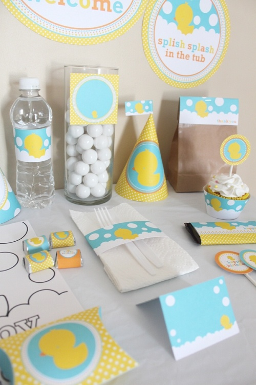 17 best images about rubber ducky party on pinterest for Do it yourself centerpieces for birthday