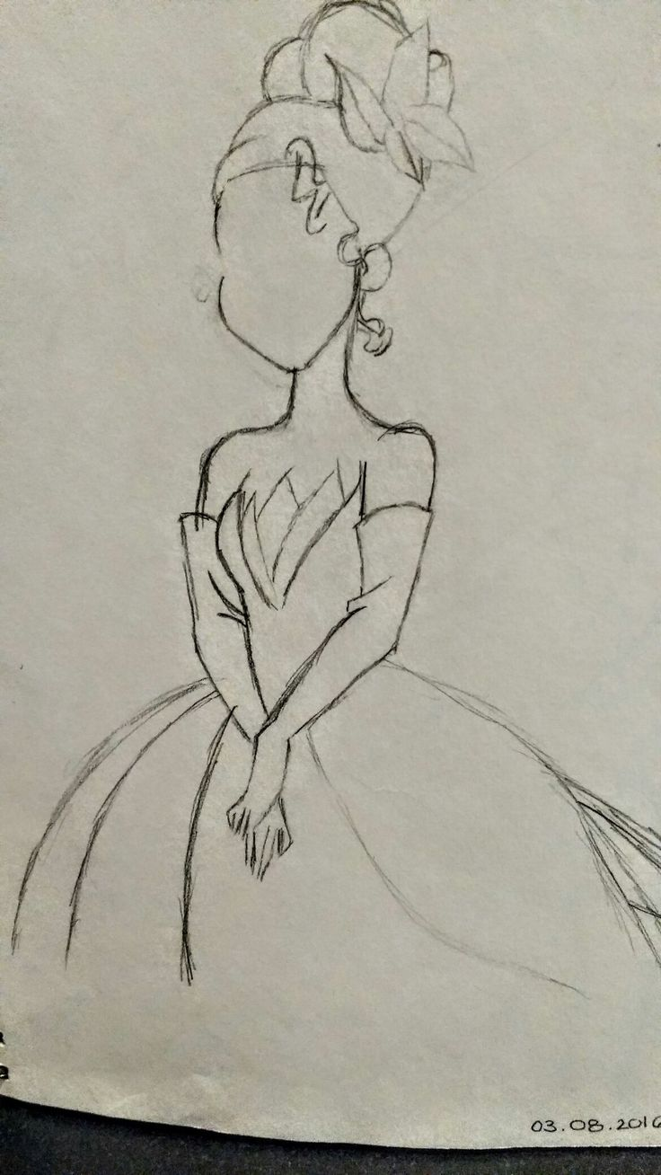 Princess Tiana - Free Hand Sketch  By: Anima Armah