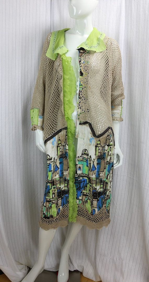 This Is A One Of A Kind Sexy And Chic Upcycled Coat Was