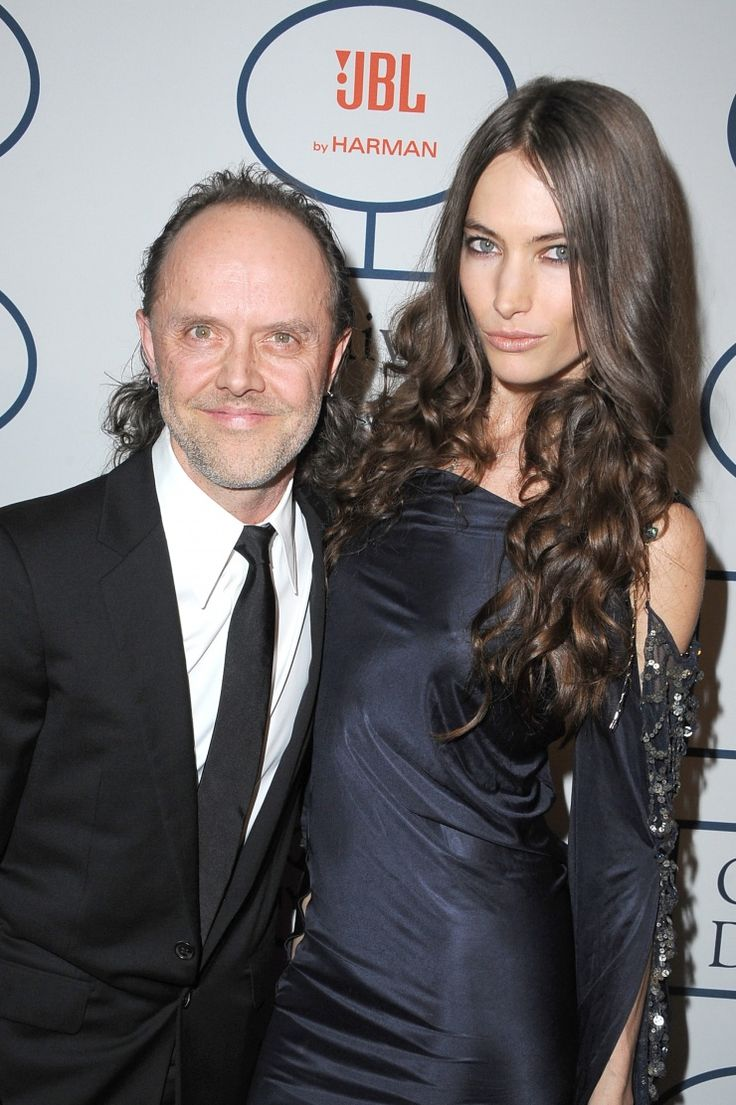 Metallica's Lars Ulrich and model Jessica Miller arrive at ...