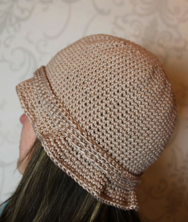 Crocheted summer hat