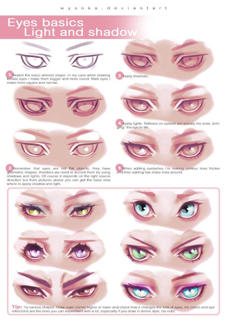 How To Draw Eyes by wysoka.deviantart.com on @DeviantArt