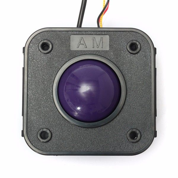 45mm Purple Ball PS/2 PCB Connector Arcade Trackball Mouse