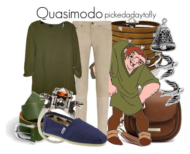 Quasimodo by pickedadaytofly on Polyvore featuring polyvore, fashion, style, Urban Outfitters, rag & bone, TOMS, Cooper St, Sif Jakobs Jewellery, Metal Couture, Itsy Bitsy, clothing, disney, happybirthdaytome, quasimodo and thehunchbackofnotredame