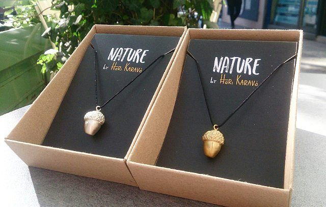 """Winter mood!!! Enjoy our new collection """"Nature"""".  #nature #byharikarava #newcollection #handmadejewelry #acorn #acornnecklace #silversmithing #silveracorn #goldplated #silvernecklace #greekdesigners #naturelovers #winter #wintermood #naturebyharikarava"""