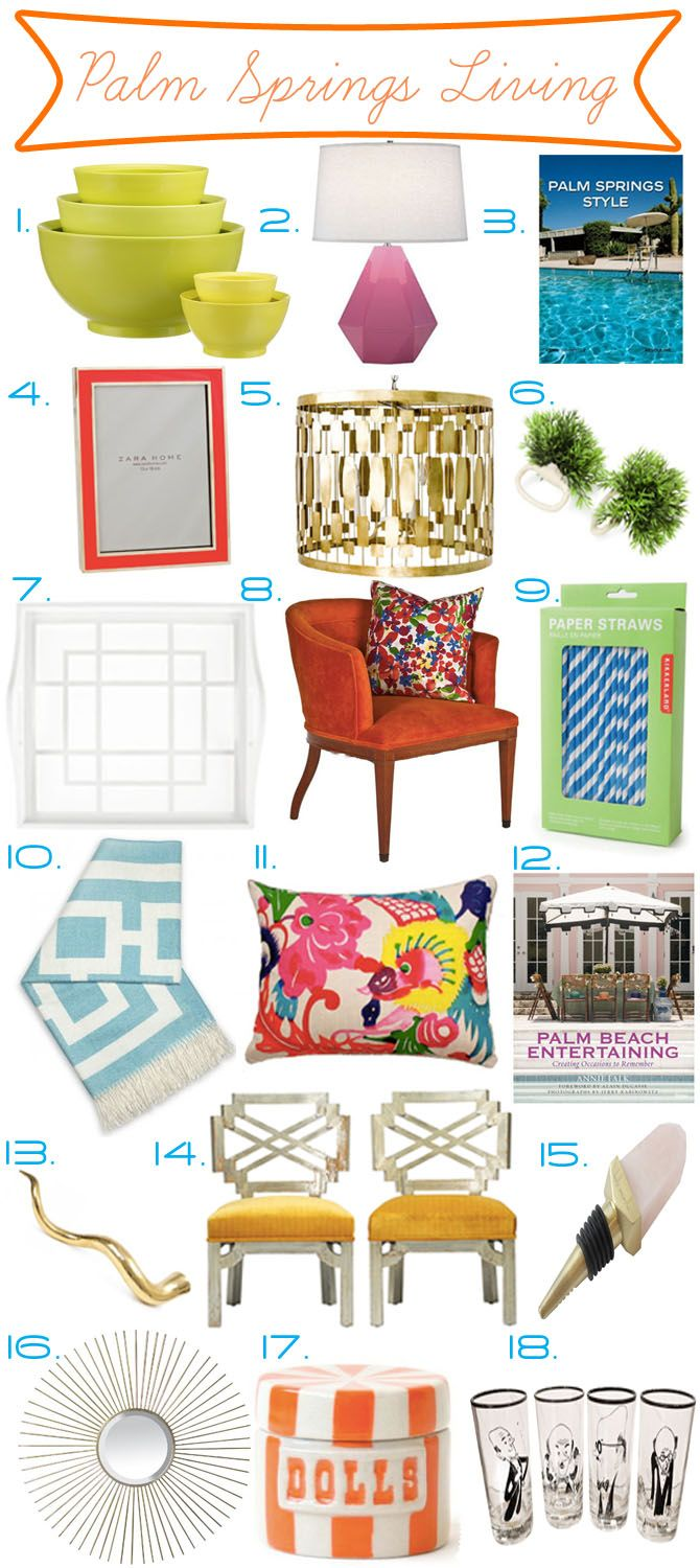 Baubles and Cocktails: Palm Springs Decor