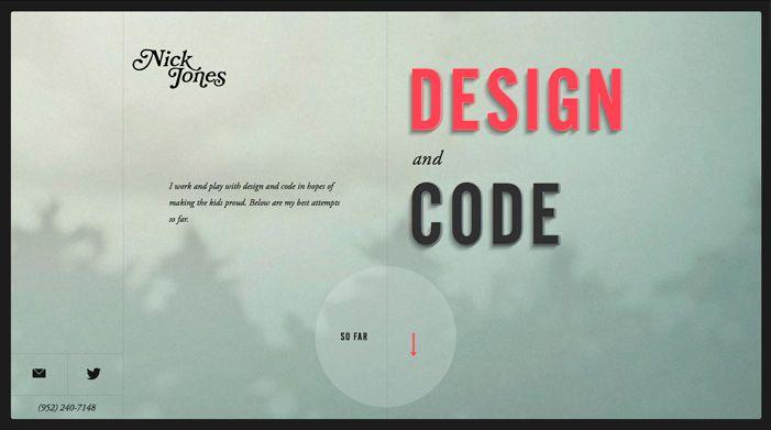 Showcase of Best Typography Web Design Inspiration