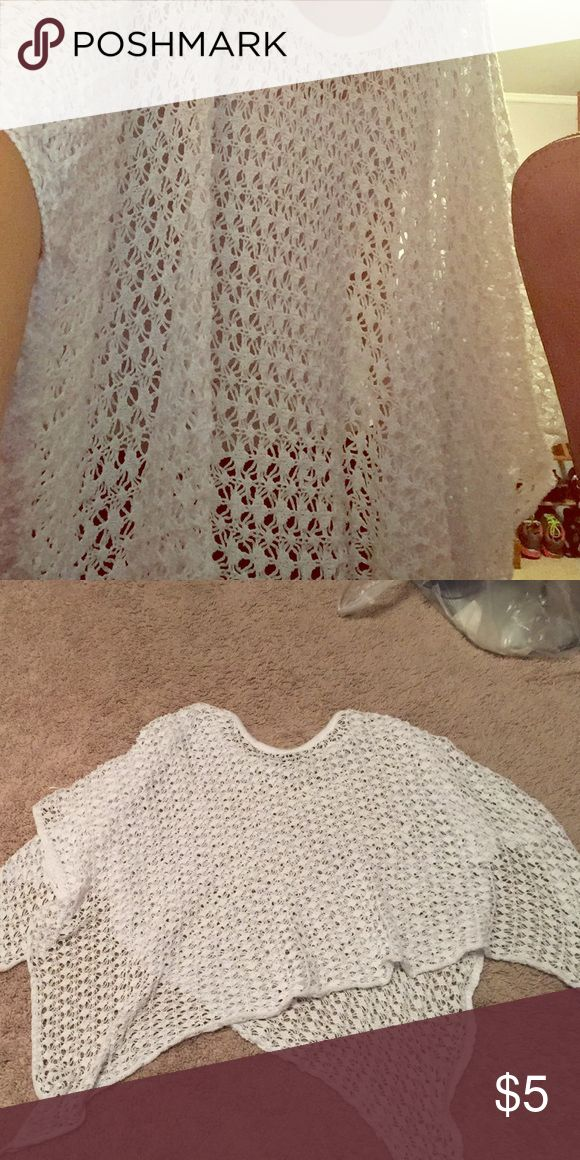 Shirt White holes shirt, good condition, clean and cheap  DISCOUNT ON BUNDLE Other