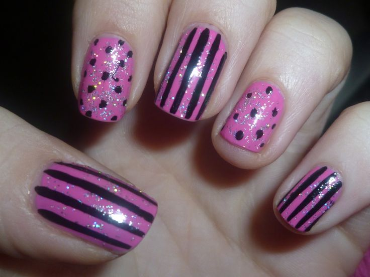 104 best nail art images on pinterest enamels clothes and clothing pink dots n stripes nail art fingernails funky manicures sorry i have no idea where i got this from if you know or if u own it please post the details prinsesfo Gallery