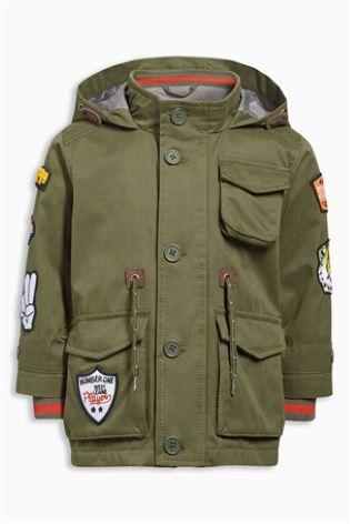 Buy Khaki Badge Jacket (3mths-6yrs) online today at Next: Belgium