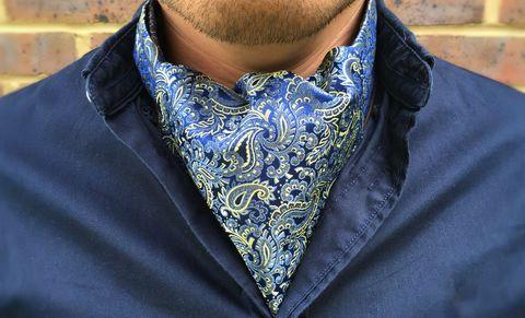 MURDOCH Woven Silk Cravat #cravat #ascot #tie #daycravat #silkcravat #silk #cravats #ascots #madeinengland #wedding #groom #groomswear #weddingideas #idea #grooms #style #weddingstyle #outfit #inspiration #weddingguest #guest #usher #ushers #buybritish #accessories #dapper #gentleman #cravatclub #pink #blue #paisley #yellow