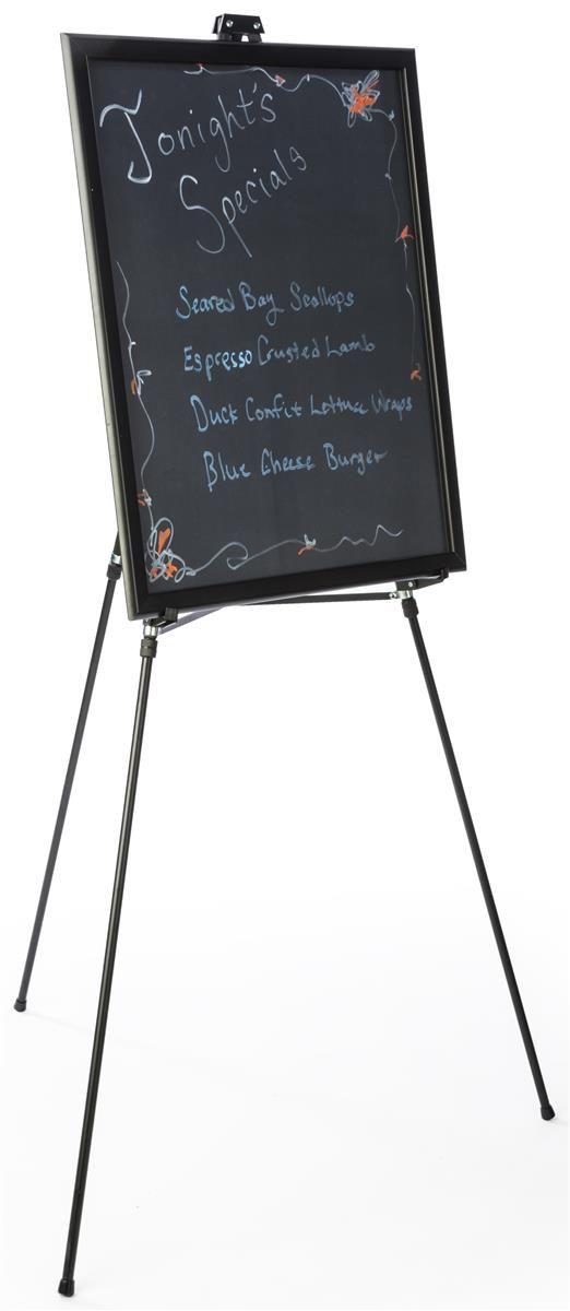 22 X 28 Liquid Chalkboard With Snap Frame Floor Easel Black Aluminum