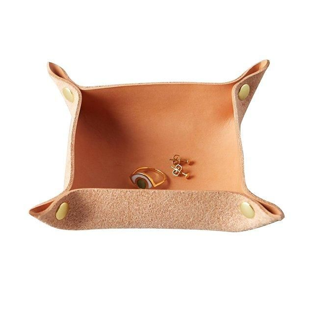 Anthropologie leather tray for jewelry