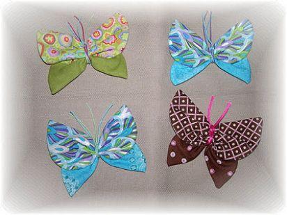 Mariposas en Tela facilísimas | Manualidades, Blog and Tela