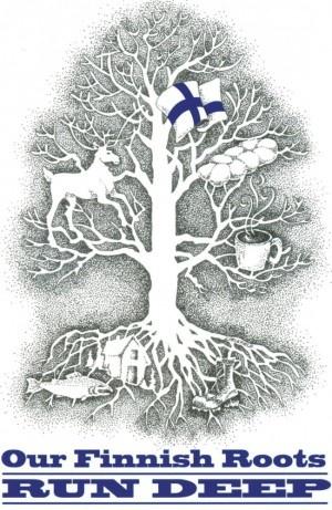 Poster for 2012 Finnish-American Folk Festival, Naselle, Washington, by Debbie Littlefield.