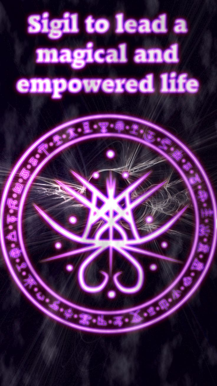 Sigil to lead a magical and empowered life