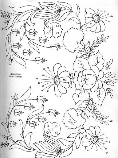 bavarian folk art coloring pages-#1