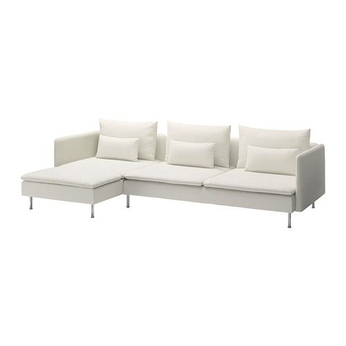 SÖDERHAMN 3-sits soffa och schäslong IKEA Soffseriens olika delar kan kopplas ihop till olika kombinationer eller användas var för sig.