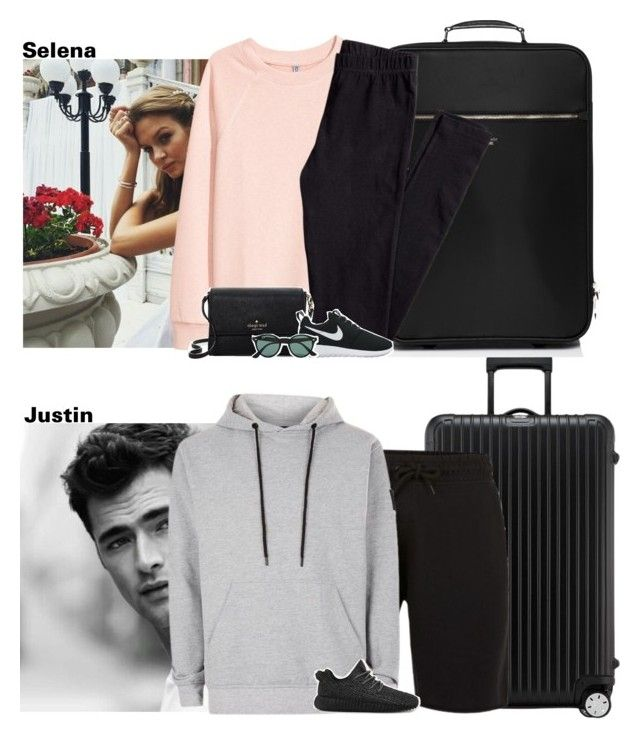 """""""05.17.17//Flight to Byron Bay"""" by littlekidsfashion ❤ liked on Polyvore featuring Rimowa, Kate Spade, H&M, NIKE, Ray-Ban, Nicce and adidas"""