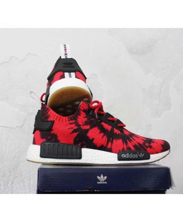 Adidas NMD Runner Primeknit Shoes Color Core Black/Red Shoes
