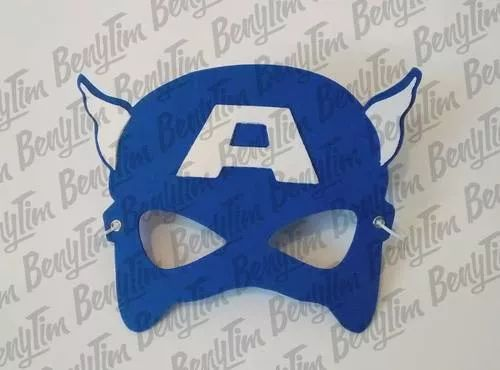 mascaras antifaces de goma eva superheroes 10 unidades