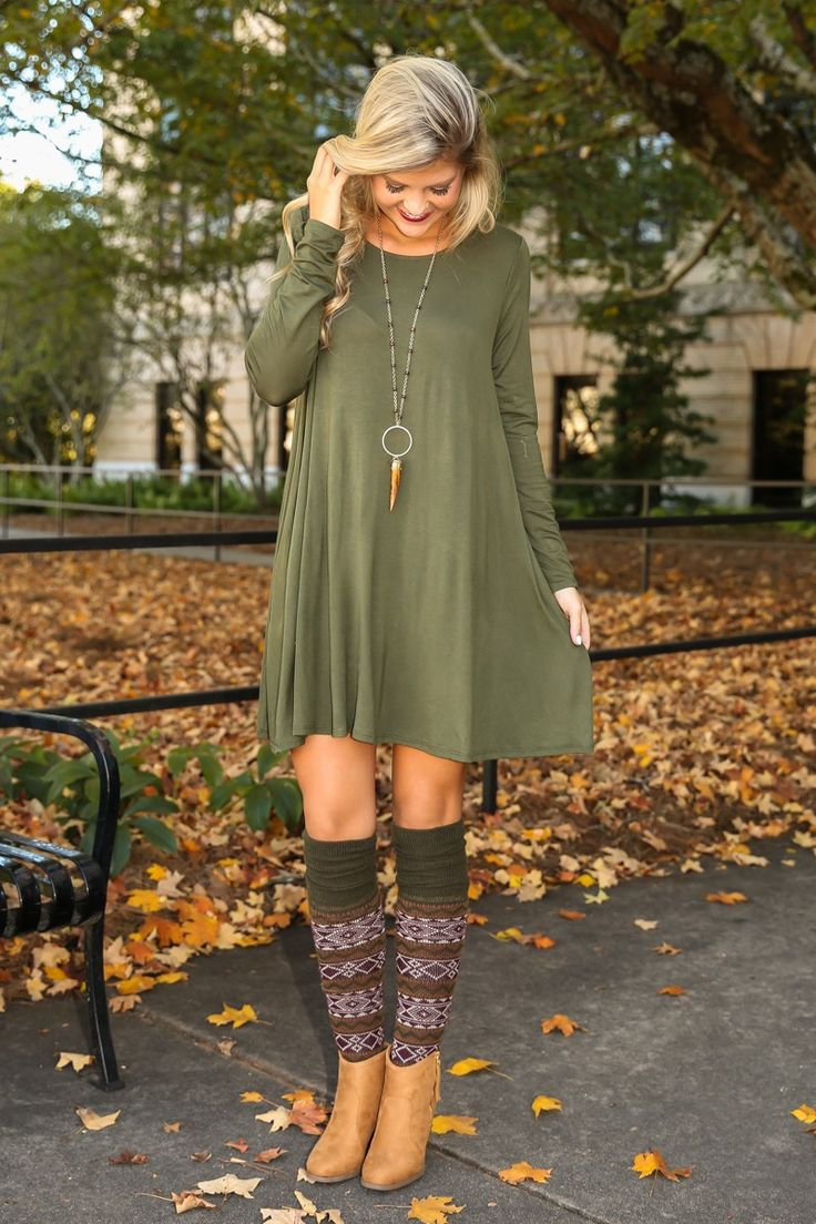 Simplicity Is Key T-Shirt Dress-Olive - New Today | The Red Dress Boutique