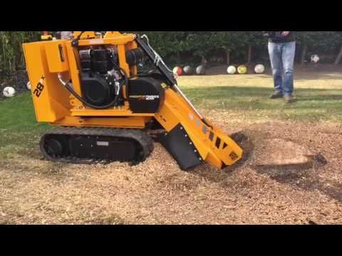 Predator Radio Remote Stump Grinder In Action - Essex Tree Stump Grinding