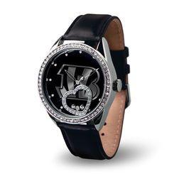 Women's Cincinnati Bengals Black Beat Leather Watch