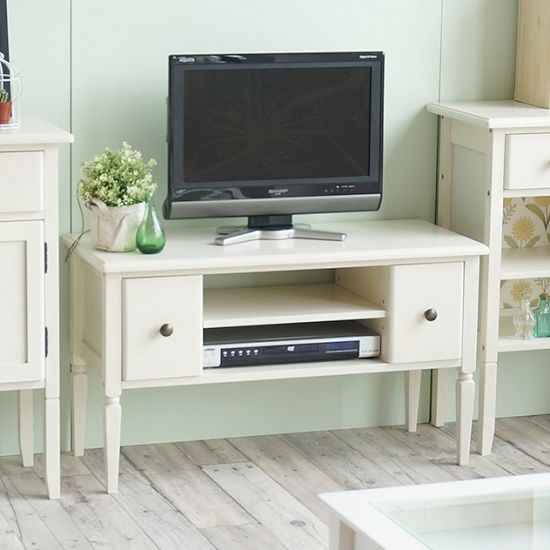 かわいいホワイトテレビ台 ine reno(アイネ リノ)テレビボード