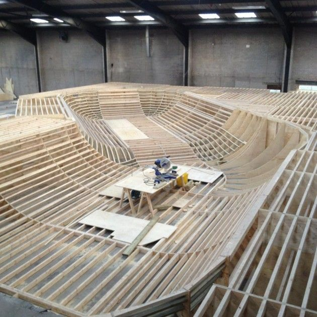 nottinghams indoor skatepark, almost finished so there will be no excuse of its too wet to skate this winter  @charlotteordchallenge