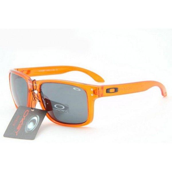 oakley holbrook price eqx6  $1299 Discount Oakley Holbrook Sunglasses Clear Orange Frame Black Lens  Shop Deals wwwracal