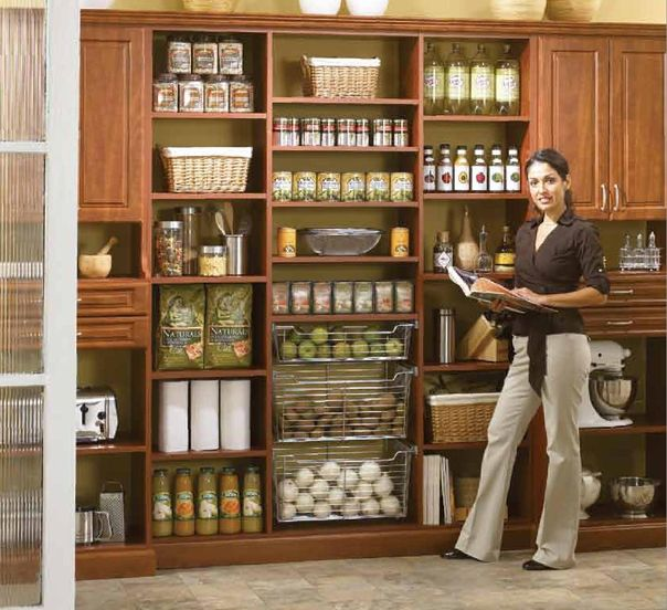 Kitchen Pantry Layout Ideas: Country Kitchen Pantry Ideas For Small Kitchens Minimalist