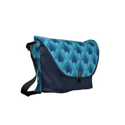 Polygon Heart Small Messenger Bag - pattern sample design template diy cyo customize