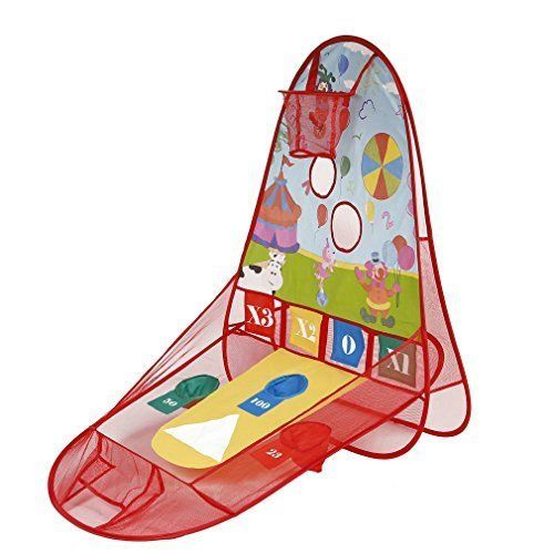 Baby Play Games Tent Toddler Basketball Hoop Kids Tent Sports Center with Basket