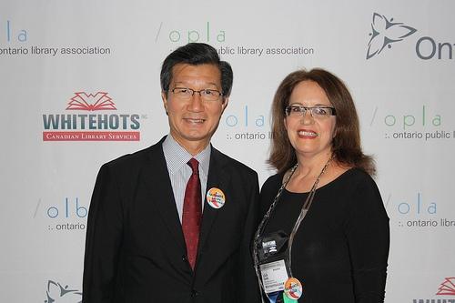 Minister Chan and Lila Saab