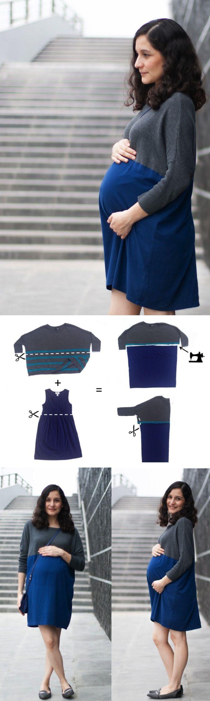 DIY Maternity Dress (refashion tutorial)