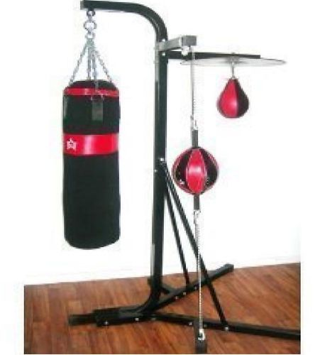 New Free Standing 3in1 Kicking Punching Bag Speed Ball Gym