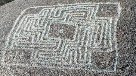 The Hemet Maze Stone is a prehistoric petroglyph. It is located in Reinhardt Canyon, within the Lakeview Mountains, in Riverside County, California.Maze Stones, Maiz Stones, Hemet Maze, Hemet Maiz