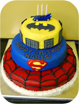 Justice League Party ideas | ... Was A Super Cake For A Superhero Party Narls Turned Four And His Party