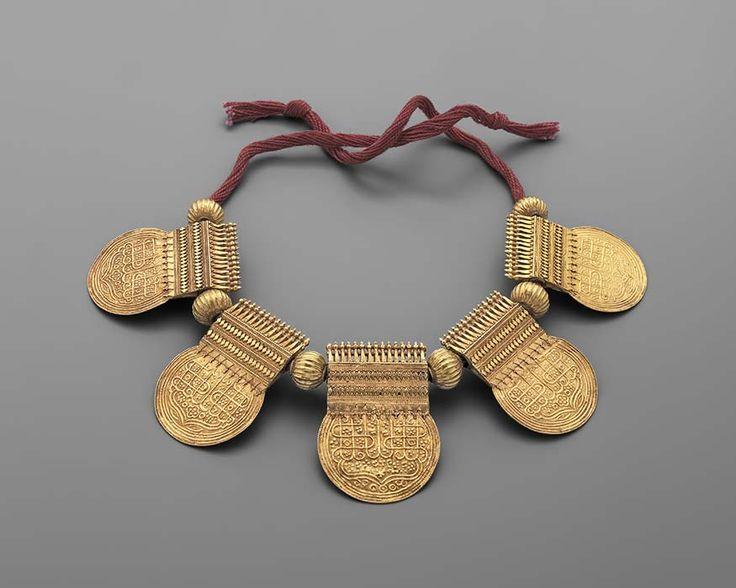 Collier nuptial en or te passementerie Inde XIX-XX siècle