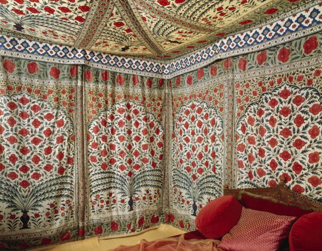 Часть ситцевой палатке Типу Султана, с.  1725-50.  NT 1180731. © Национальный фонд Images / Erik Pelham