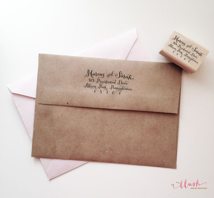 how to return address wedding envelopes%0A Items similar to Custom Return Address Wedding Stamp  Wooden Rubber Custom  Stamp  Moving Announcement  Save The Date Stamp on Etsy