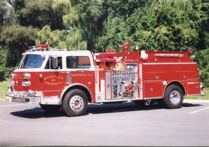 Cresskill NJ Engine 9 1985 American LaFrance Pumper - 3x5 Fire Apparatus Photo