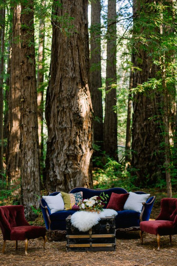 Rustic fall forest wedding at Santa Lucia Preserve in Carmel