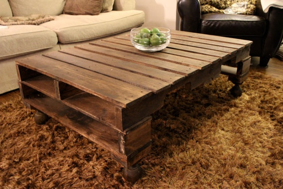 Modern Pallet/Skid Coffee Table by ModernRustByNate on Etsy, $350.00