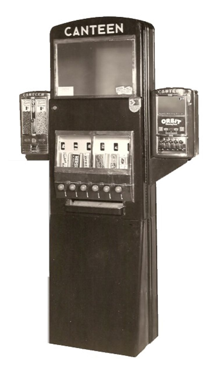 Old Barber Chairs >> 1940s Canteen candy machine | vintage vending | Pinterest | Kind of, What kind of and Candy